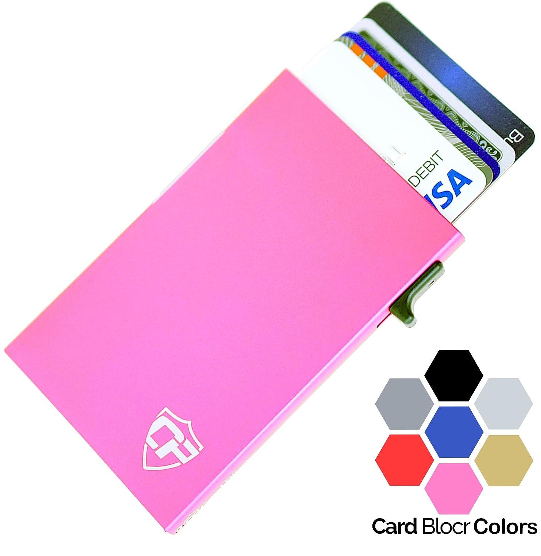 Card Blocr Mens Credit Card Holder Slim RFID Blocking Minimalist Wallet Metal Credit Card Holder