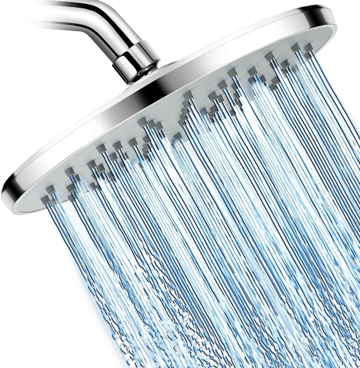 Warmspray Rainfall Shower Head High Pressure With 9 Inch Large Coverage Rain Shower Heads Spray Relaxation And Adjustable Brass Swivel Ball Joint With Filter Amazon Com