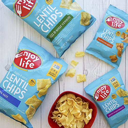 Amazon.com: Enjoy Life Lentil Chips, Soy free, Nut free, Gluten free, Dairy free, Non GMO, Vegan, Thai Chili Lime, 4 Ounce Bags (Pack of 12)