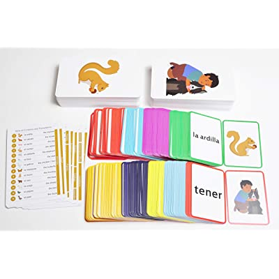 576 Spanish Picture Card Bundle Pack: 384 Spanish Memory Game Playing Cards with 192 Spanish Flash Cards: Toys & Games