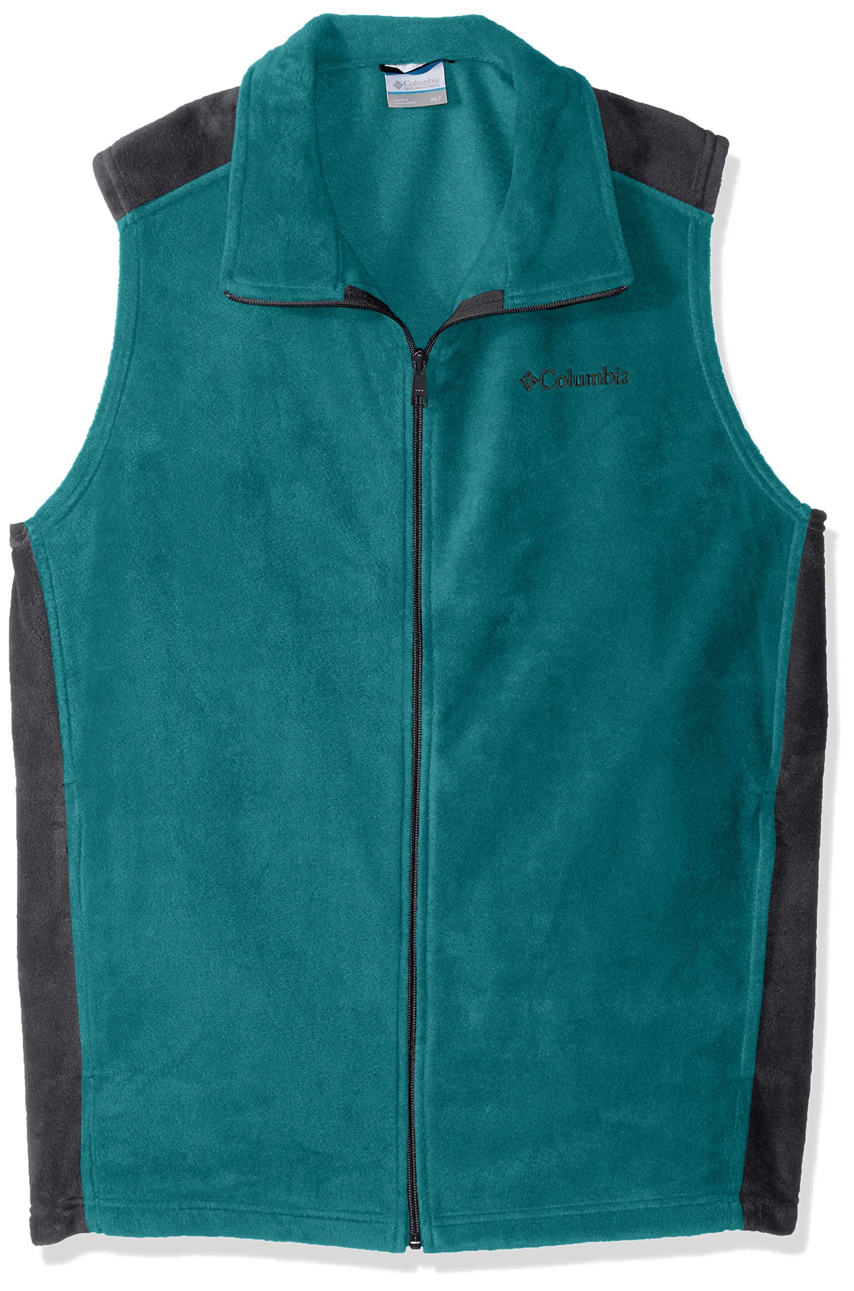 Columbia Men's Big Tall Steens Mountain Vest, Glacier Green, Graphite, XLT
