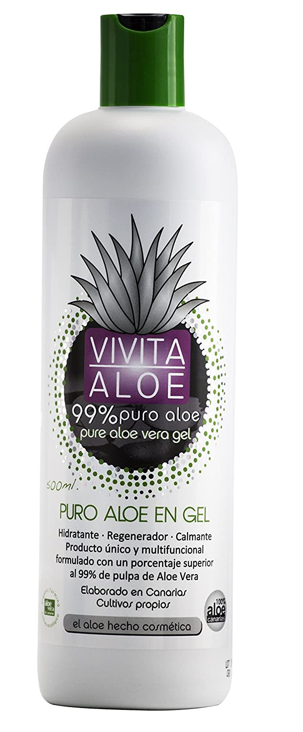 Amazon.com : Pure Aloe Vera Gel : Unique product formulated with more than 99% Canary Island Aloe Vera pulp. Moisturising-Regenerating-Soothing.