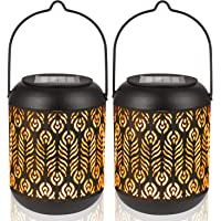 LeiDrail Solar Lantern Lights Outdoor Tabletop Yard Décor for Party Table Pathway Garden Yard Sun Powered LED Hanging…