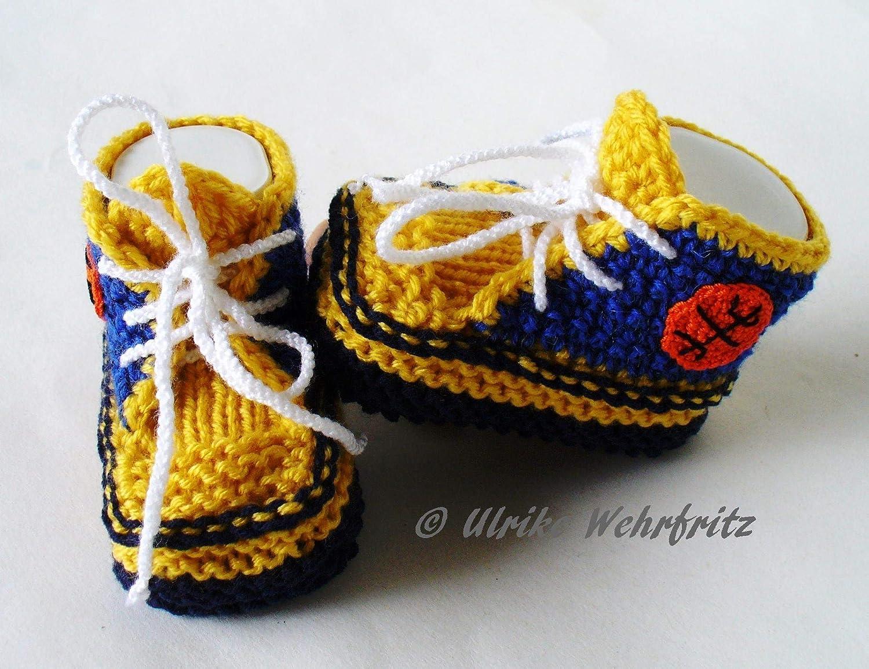 Babyschuhe Sportschuhe Basketball gestrickt geh/äkelt