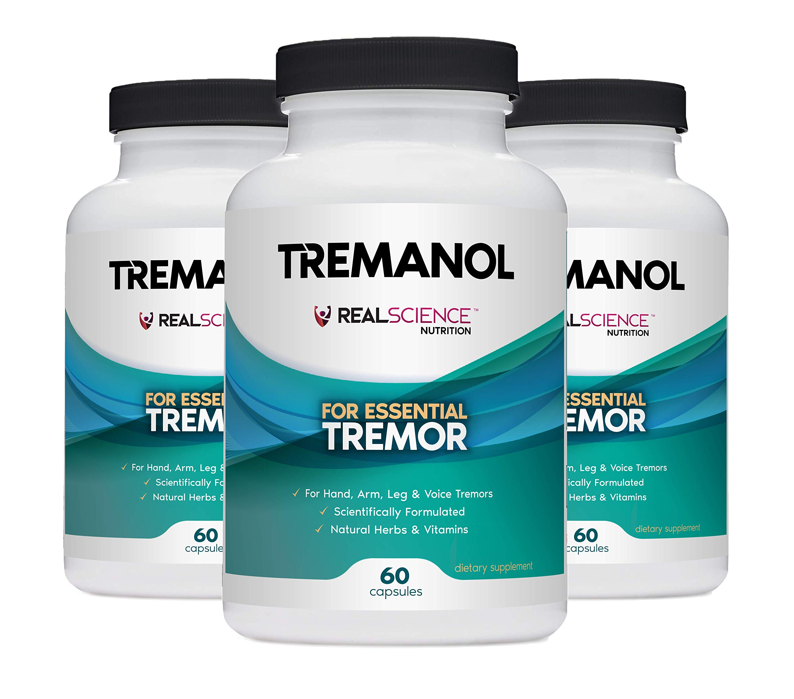 Tremanol - Pack of 3 - Natural Aid for Essential Tremor - Provides Relief for Shaky Hands, Arm, Leg, & Voice Tremors by Tremanol