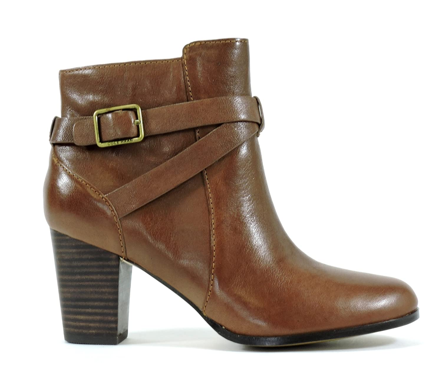 Amazon.com   Cole Haan Women's Cassidy Buckle Leather Bootie, Sequoia, 9.5  M US   Boots