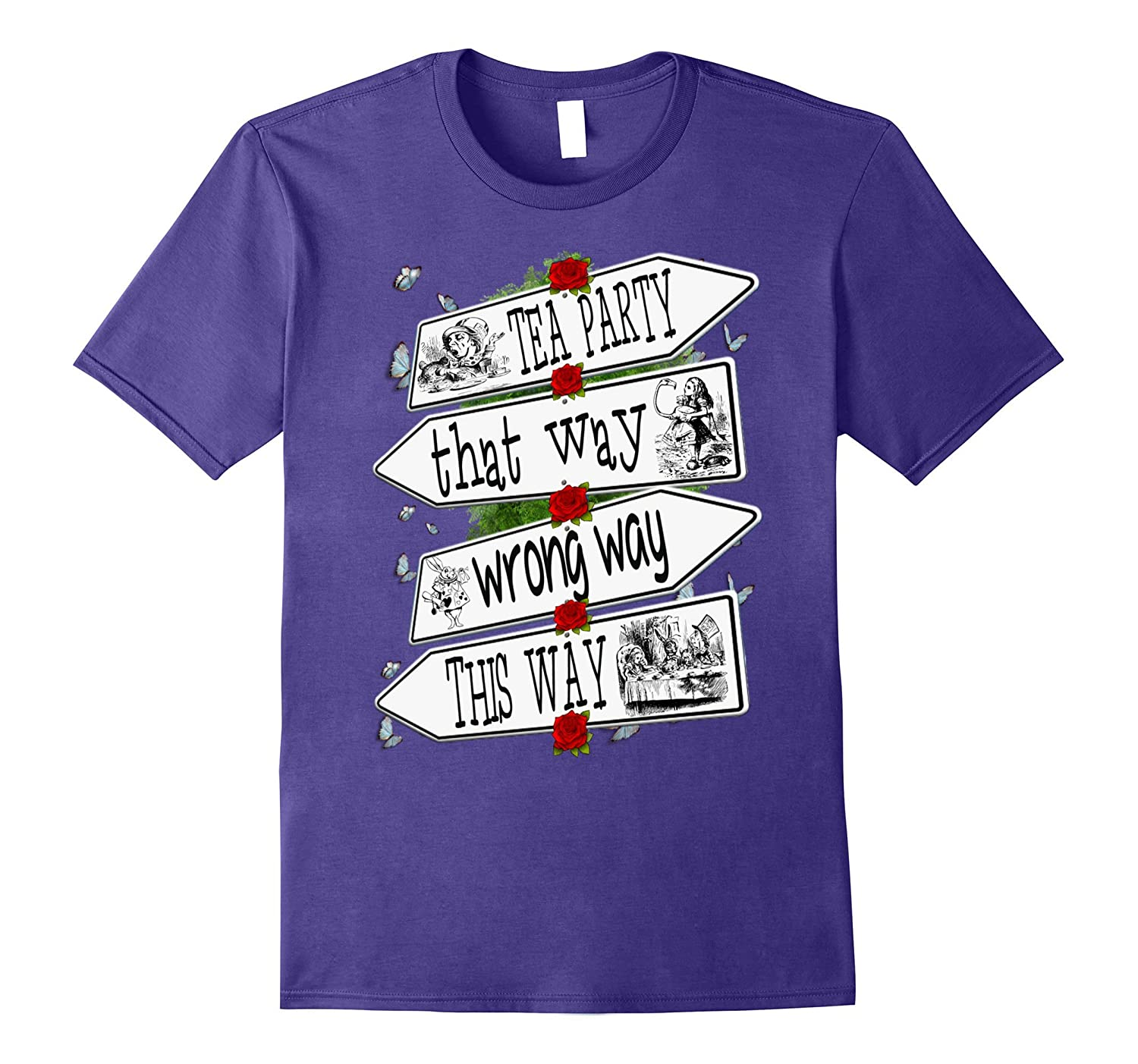 Alice in Wonderland-Men Women Kids T Shirt-SFS