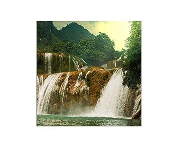 80x80cm   WANDBILD Ban Gioc Detain Vietnam Wasserfall Natur   Leinwandbild  Auf Keilrahmen Modern