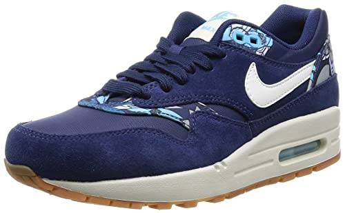 hot sale online 3df83 938a5 Nike Air Max 1 Print, Womens Low-Top Sneakers, Blue (401 Blue