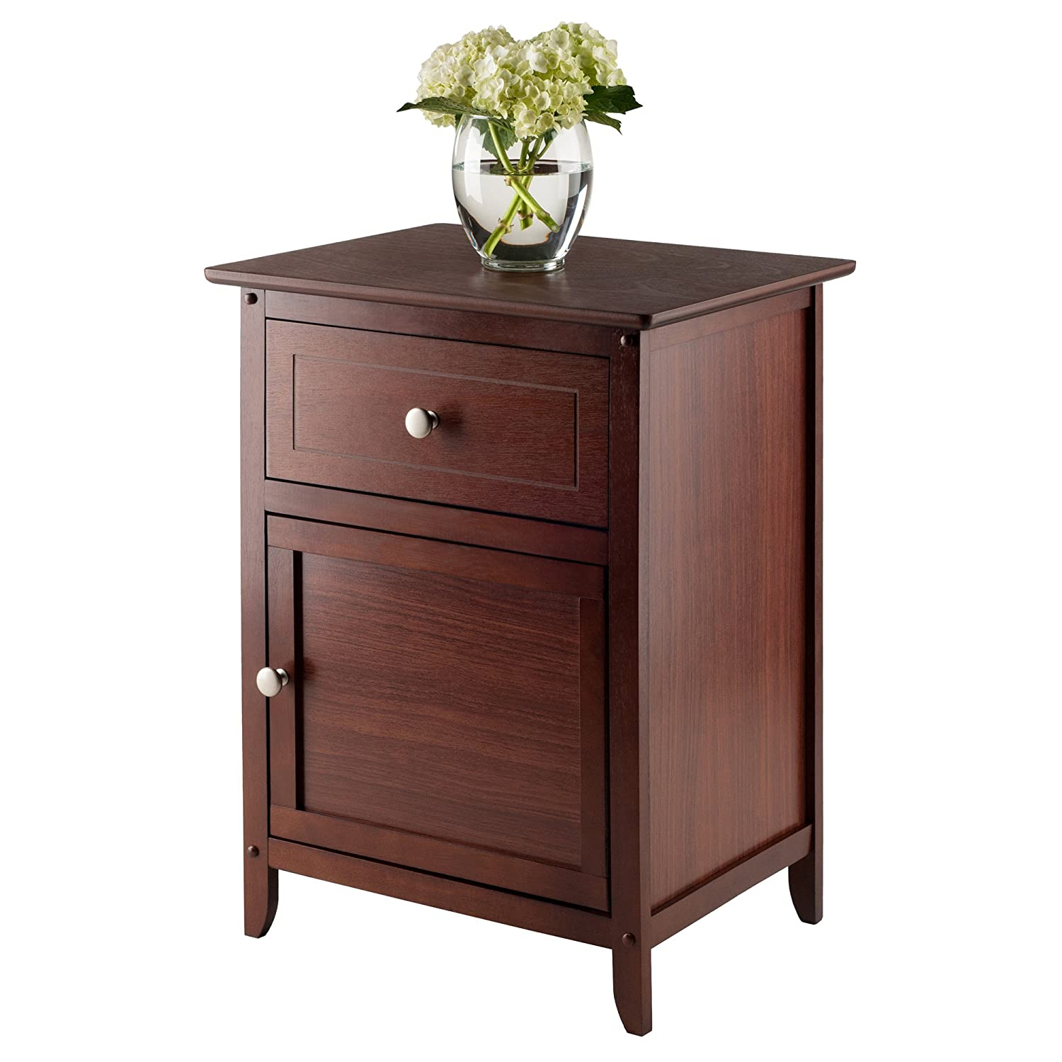 Amazon Winsome Wood Night Stand Accent Table with Drawer and