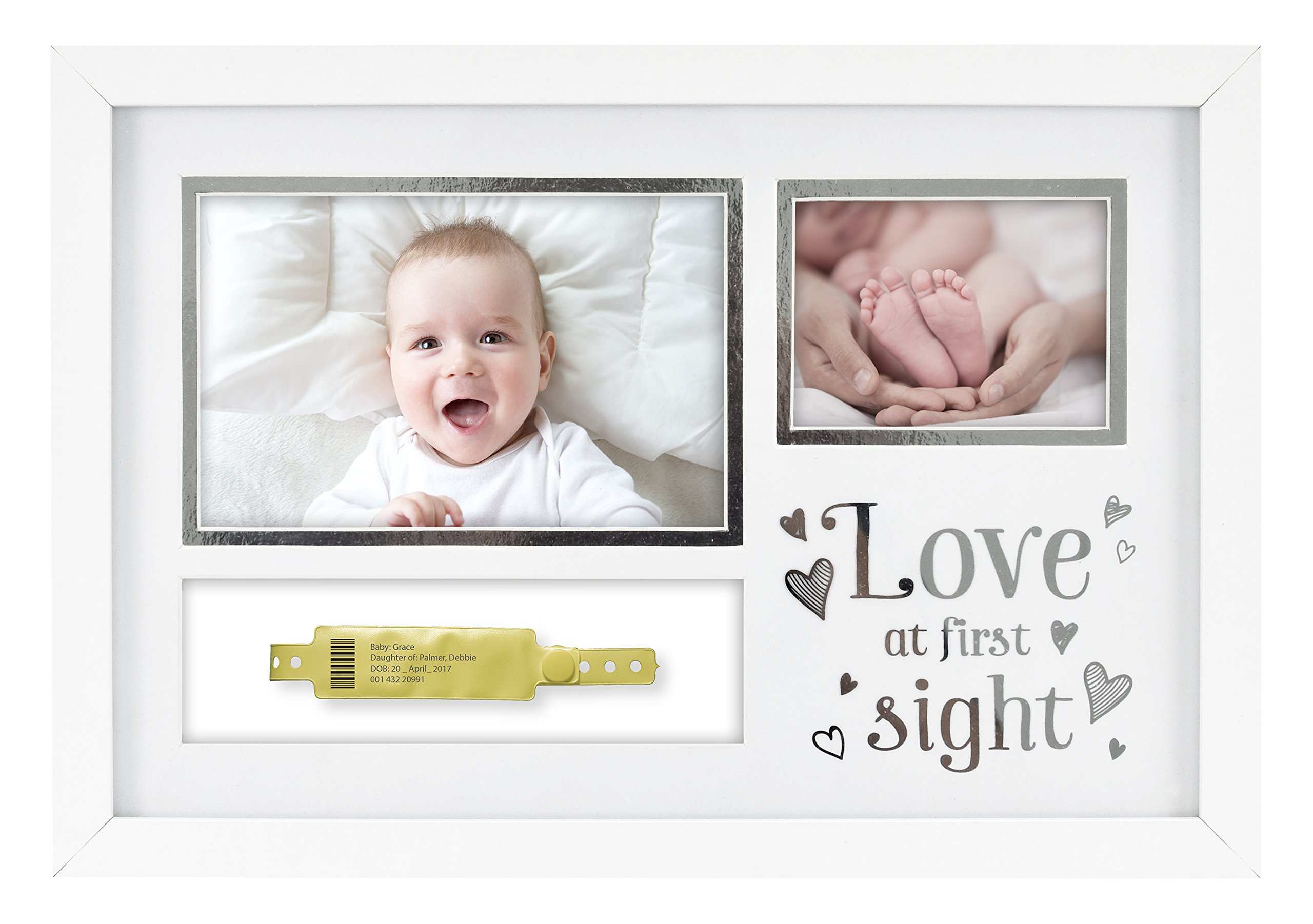 MCS ''Love at First Sight'' Baby Hospital ID Bracelet and Photo Frame (66891)