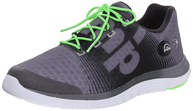 リーボックメンズz-pump Fusion Running Shoe B00RW5BOFQ 12 M US Shark/Gravel/Solar Green/White