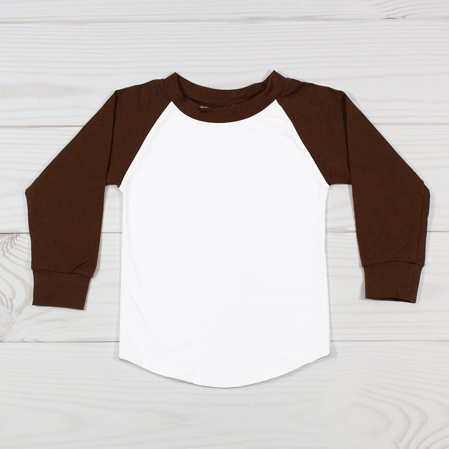 Amazon.com  Dress Up Dreams Boutique Brown Long Sleeve Raglan Baseball T- Shirt  Clothing 0d30adbf18d