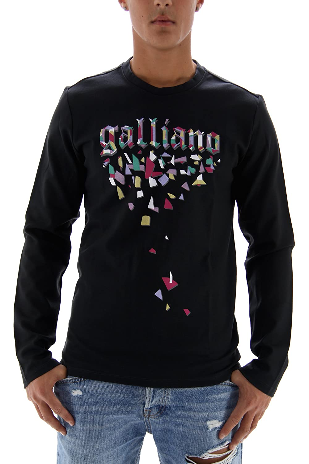 John Galliano Men's Sweatshirt Grey Charcoal Medium