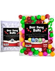 Sportly Beer Pong Balls, 144 Pack, 38mm, Great for Table Tennis & Ping Pong Tournaments, Carnival Games, Parties