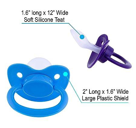 Amazon.com: Chupete de tamaño adulto ABDL, para bebés ...