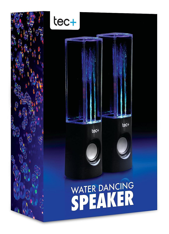 tec+ Dancing Water Speakers Tragbare USB Lautsprecher mit Buntem LED Wasserspiel Lichteffekt fü r PC, Mac, MP3-Playern, Smartphones und Tablets einschl. TPDWS