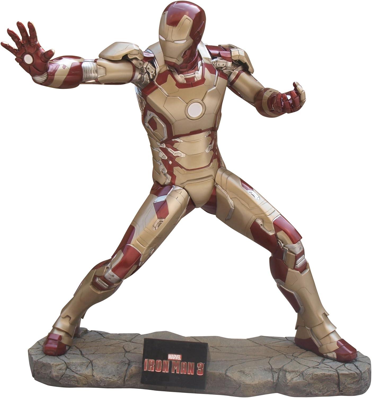 Figura decorativa de fibra de vidrio, tamaño real - 179 cm, diseño de Iron Man 3 - Studio Oxmox: Amazon.es: Hogar