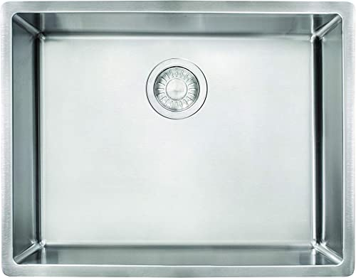 Franke CUX11021-ADA Cube 22-3 4 Stainless Steel Kitchen Sink, 5 x 21 x 16