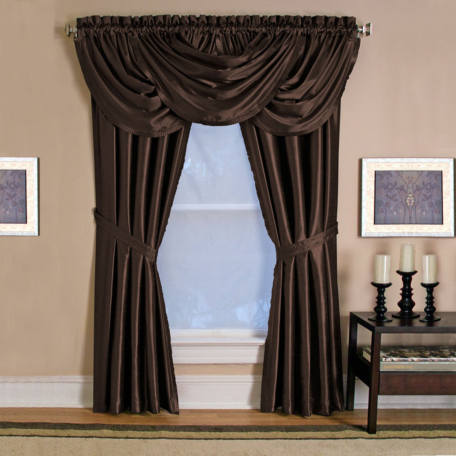 over embellished orders shipping lined park trim valance faux madison product home solid waterfall overstock juline garden free silk on tassel valances