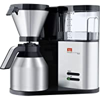 Melitta, filterkaffemaskin med glaskanna, aroma Elegance, aromaterapiapparat Aroma Elegance Therm 12 Tassen Silver…