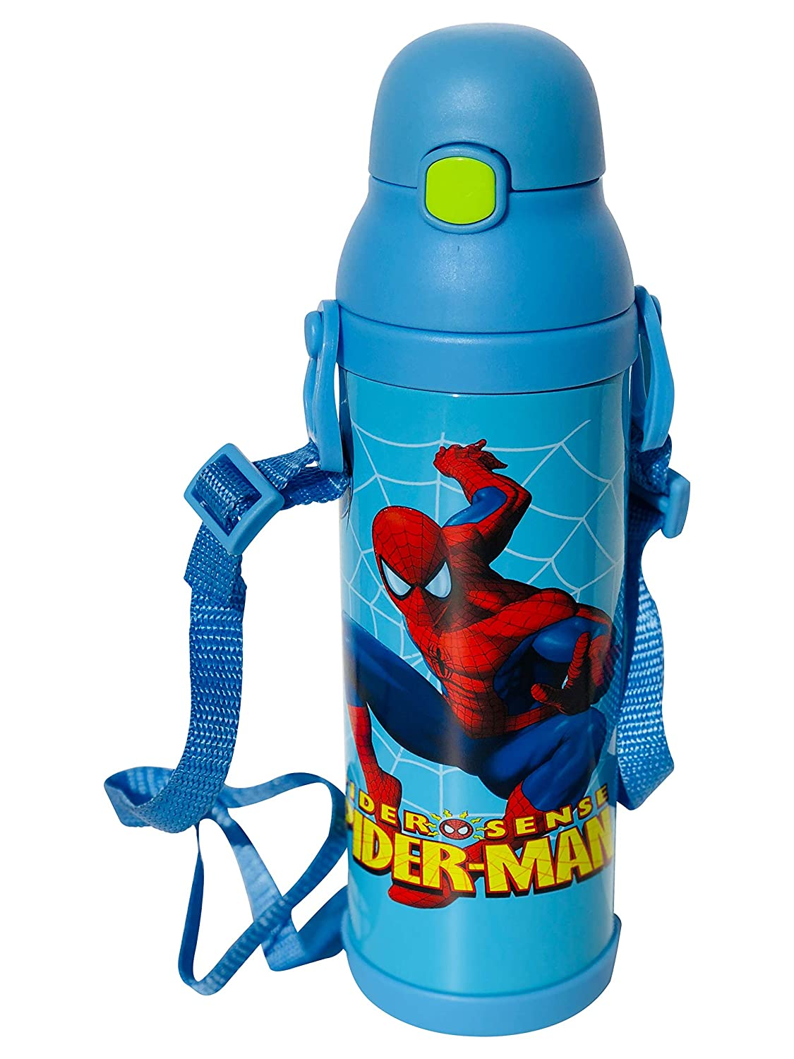 Personnage enfants Bouteille d'eau Bleu clair Spider-Man Bouteille thermos de 500  ml Idé al pour l'é cole, le sport, le camping, cyclisme et rester Hydraté e on the Go. cyclisme et rester Hydratée on the Go. Tong Lok