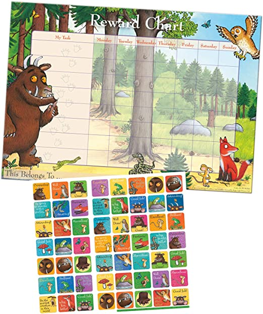 Paper Projects- The Gruffalo Reward Chart and Stickers (01.70.30.016): Amazon.es: Juguetes y juegos