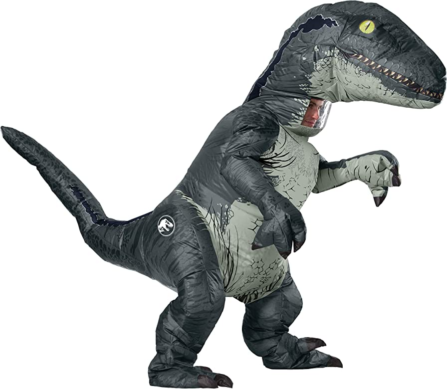 Jurassic World 2 Inflatable Triceratops Mens Adult Dinosaur Costume