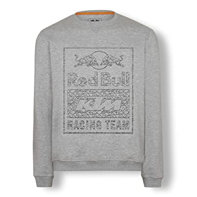 Red Bull KTM Wireframe Crewneck Jersey, Gris Hombre XXX-Large Cárdigan, KTM Factory Racing Original Ropa & Accesorios