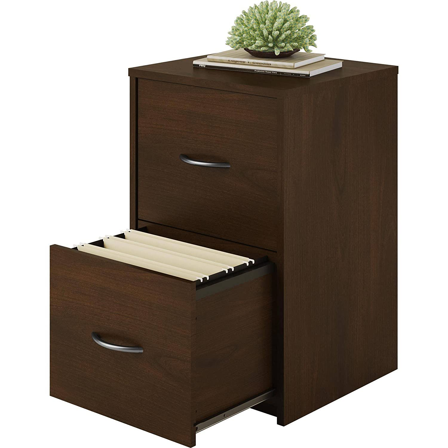2-Drawer Holds Letter Size Folders, Composite Wood Construction File Cabinet, Resort Cherry
