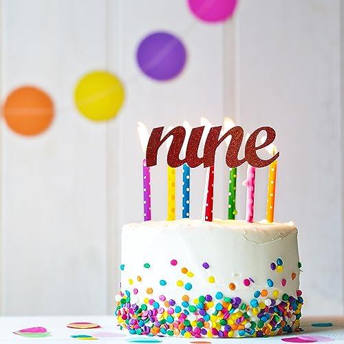 Amazon Nine Cake Topper 9th Birthday Ninth
