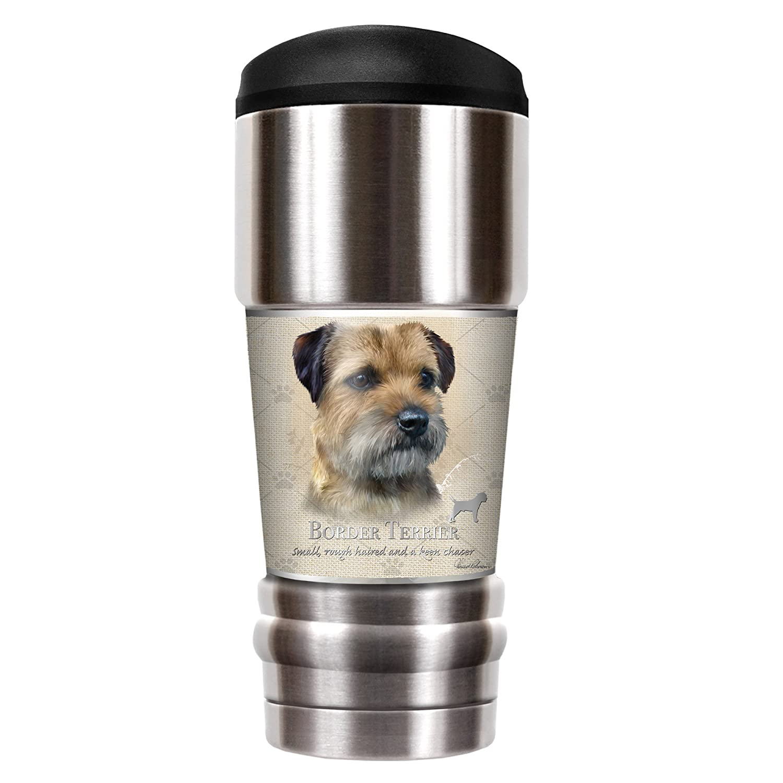 Howard Robinson Border Terrier 18oz Vacuum Insulated Travel Tumbler