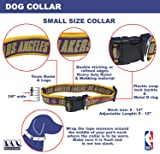 NBA Los Angeles Lakers Dog Collar, Size Small. Best Pet Collar for All Sports Fans