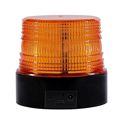 Wireless Led Strobe Light, Amber Emergency Magnetic Flashing Warning Beacon for Truck Vehicle with 12-24v Cigarette Lighter Plug: Automotive