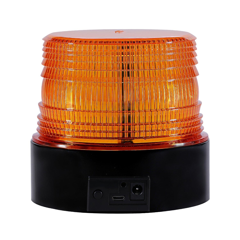 Blau Gelb Appow LED Rundumkennleuchte 12V//24V Rundumleuchte f/ür Auto Anh/änger Wohnwagen SUV 3,5m Kabel Magnetfu/ß