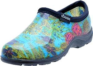 SloggersWomen's WaterproofRain and Garden Shoe with Comfort Insole, Midsummer Blue, Size 9, Style 5102BL09