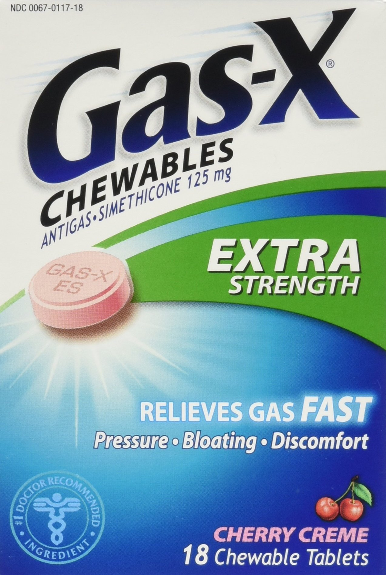 Gas-X Extra Strength Cherry Creme Chewable Tablets, 54 Count by Gas-X