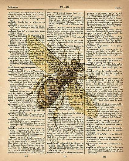 Amazoncom Dictionary Print Honey Bee Upcycled Vintage Dictionary