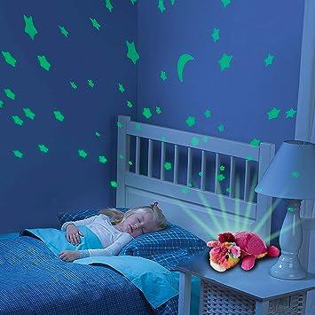 2 in1 Luz nocturna y proyector de estrellas para bebé ...