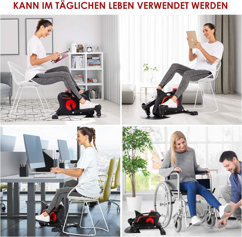 ANCHEER Tragbar Mini Bike Heimtrainer//Arm und beintrainer//Pedaltrainer//Elliptische Maschin//tolle