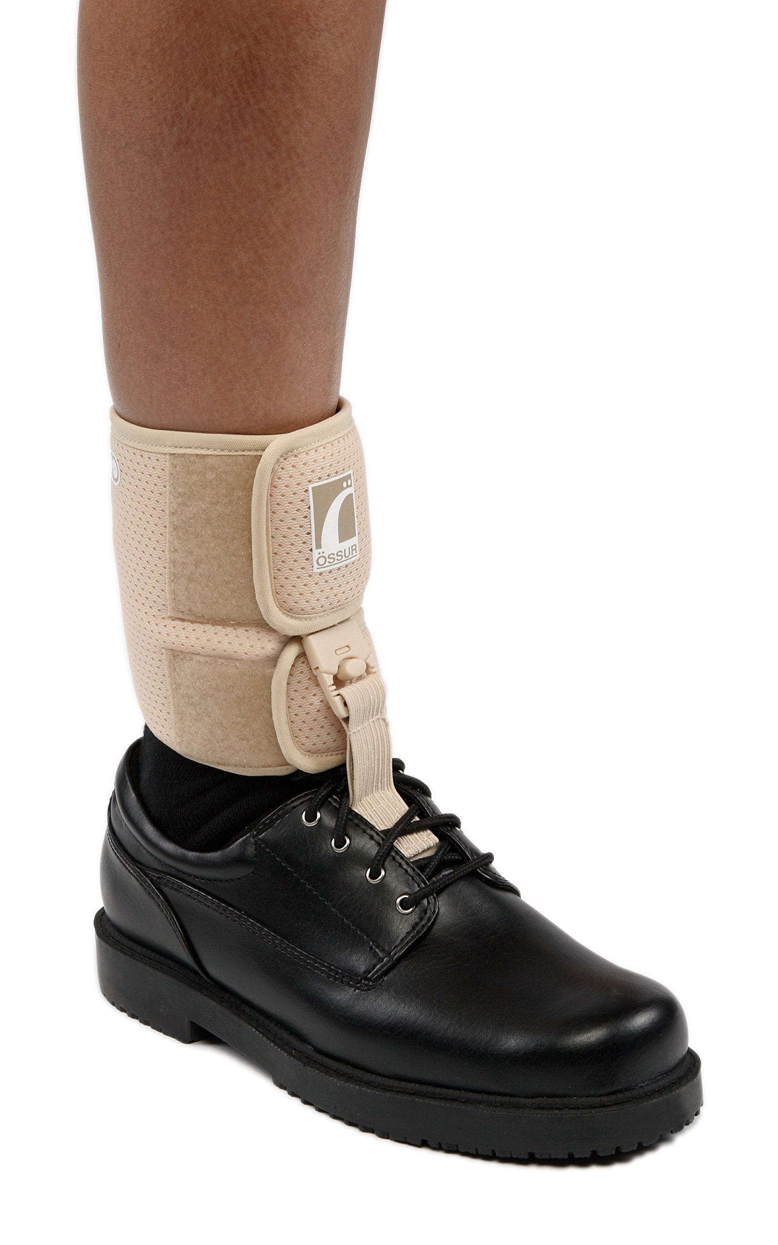 Ossur Foot-up Drop Foot Brace - Orthosis Ankle Brace Support Comfort Cushioned Adjustable Wrap (Large, Beige) by Ossur