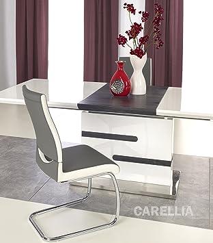 Charmant CARELLIA Table A Manger Design Extensible 160 220/90/76 CM Finition Laque