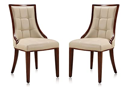 Amazon Com Ceets Dc008 Cr 5th Avenue Leatherette Set Of 2 Dining