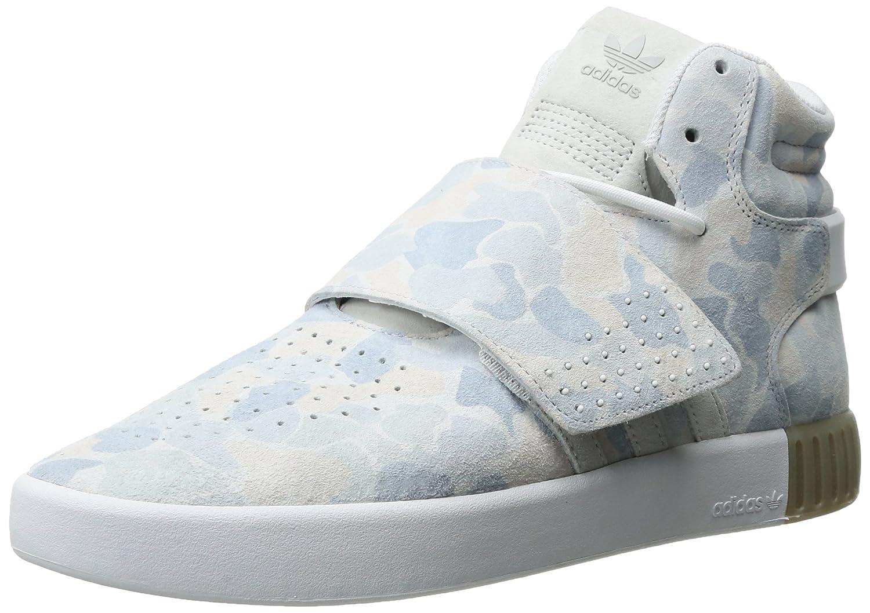 Adidas Originals Men's schuhe   Tubular Invader Strap Fashion Turnschuhe, Weiß Weiß LGH Solid grau, (9 M US)