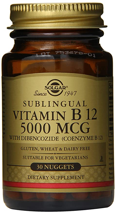 Solgar - Vitamina B12 de Megasorb con el magnetocardiograma de Dibencozide (coenzima 12B 5000)