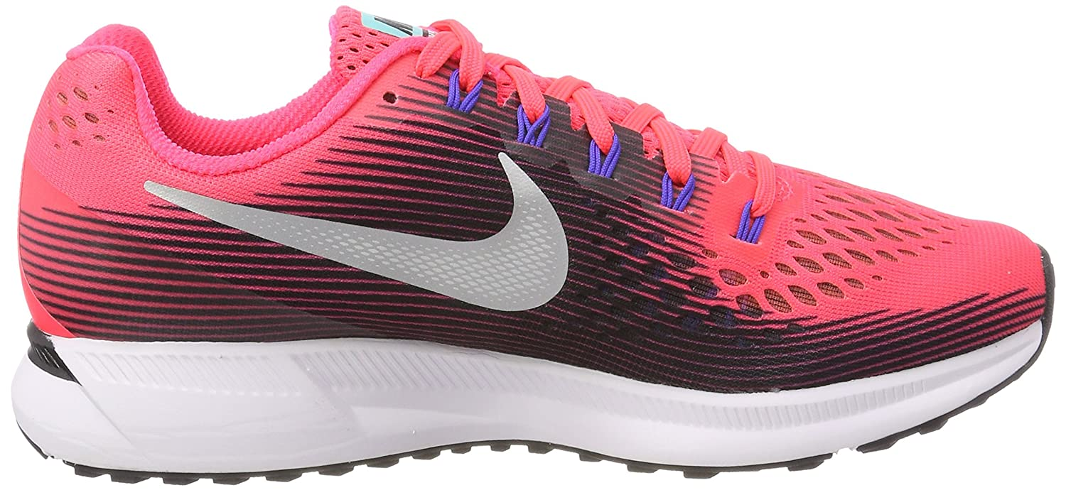 NIKE Women's Air Zoom Pegasus 34 Running Shoe B06VWRCXD9 6.5 B(M) US|Solar/Red/Metallic Silver