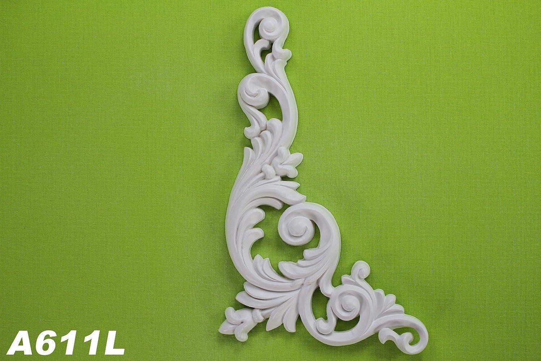 1parete elemento Stuck parete ornamento parete interna parete antiurto 260X 126mm, a611l Grand Decor