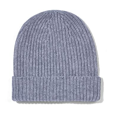 d872a37ee47e8 Paul James Knitwear Unisex 100% Cashmere Ribbed Beanie Hat  Amazon.co.uk   Clothing