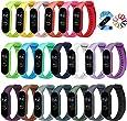 ivoler 20 Stuks Kleuren Armband voor Xiaomi Mi Band 5/6 Watch Strap, Silicone Polsband Vervanging Waterproof, Wearable, Breathable Watchbands Horlogebanden Compatibel met Xiaomi Mi Band 5/6