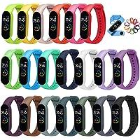 ivoler 20 Stuks Kleuren Armband voor Xiaomi Mi Band 5/6 Watch Strap, Silicone Polsband Vervanging Waterproof, Wearable…